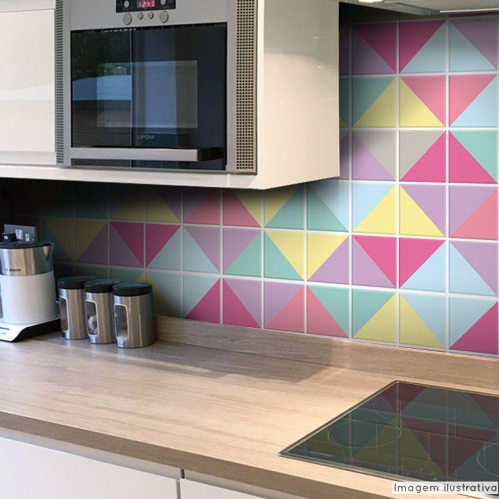 Adesivo Destacável Azulejo para Cozinha Triângulo Candy  - TaColado