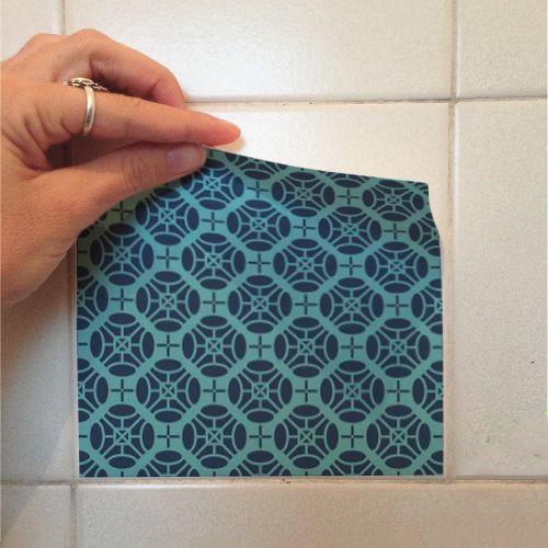 Adesivo Destacável Azulejo para Cozinha Turcos e Caicos  - TaColado