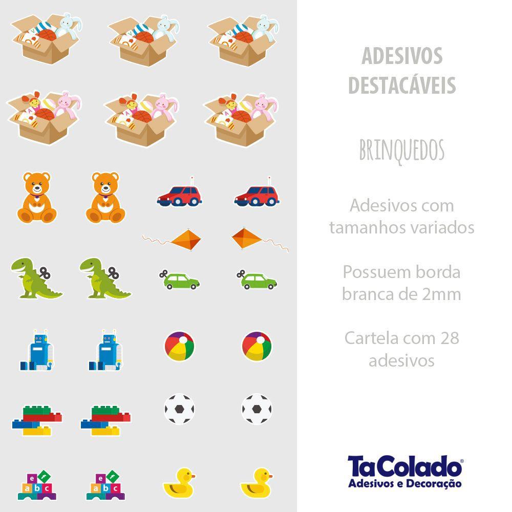 Adesivo Destacável Brinquedos  - TaColado