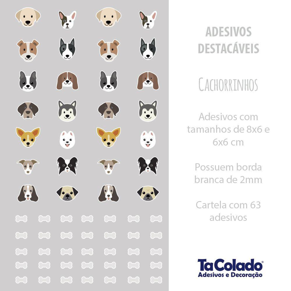 Adesivo Destacável Cachorrinhos  - TaColado