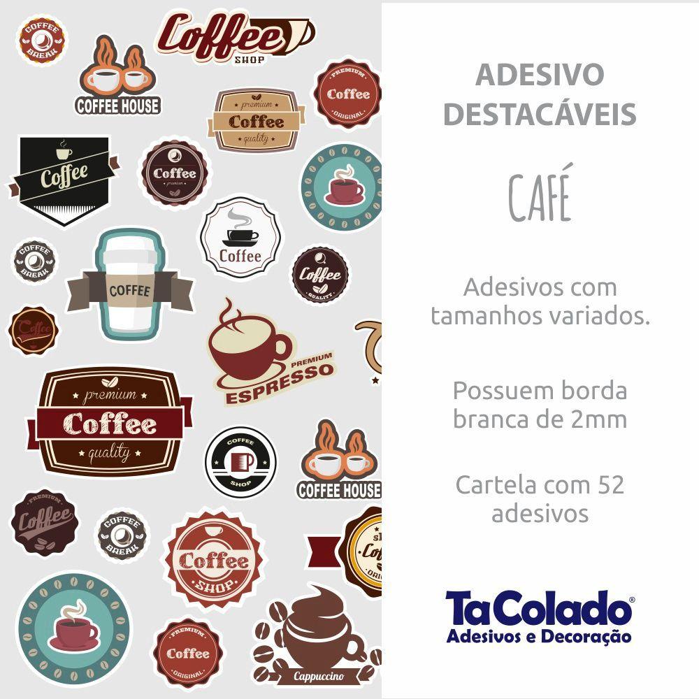 Adesivo Destacável Vintage Café  - TaColado