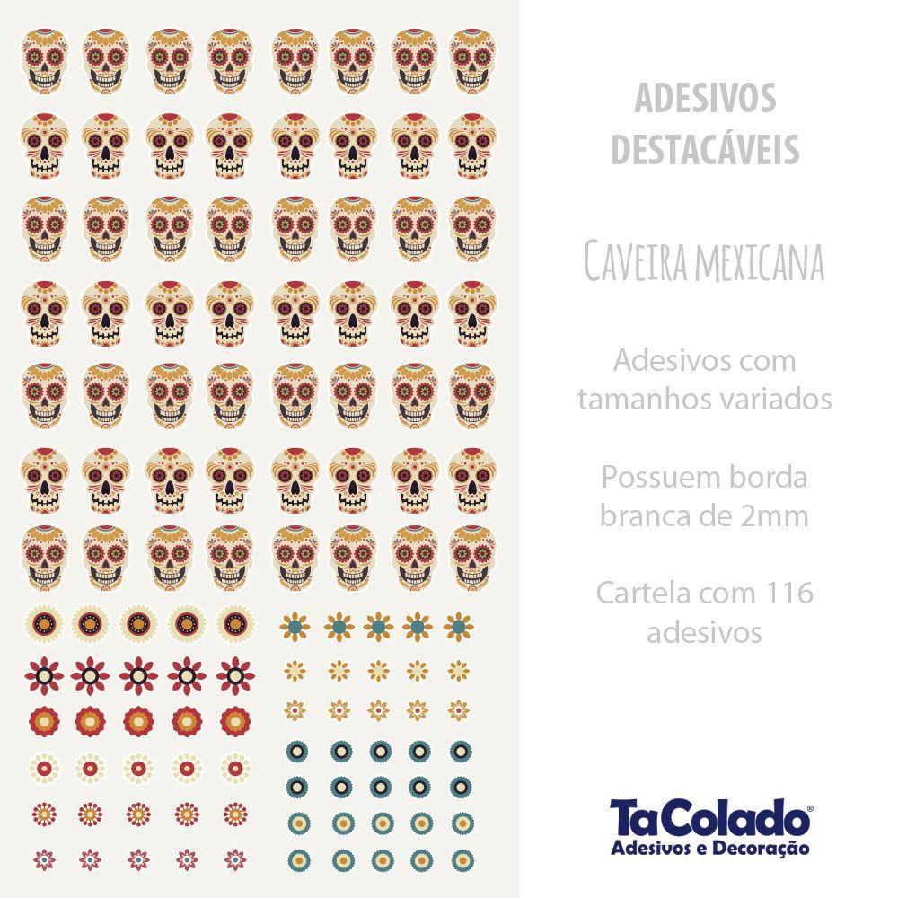 Adesivo Destacável Caveira Mexicana  - TaColado