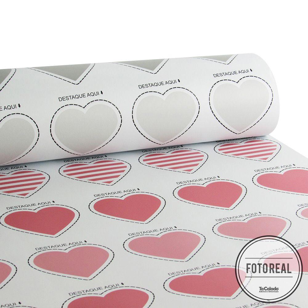 Adesivo Destacável Corações - Várias Cores  - TaColado