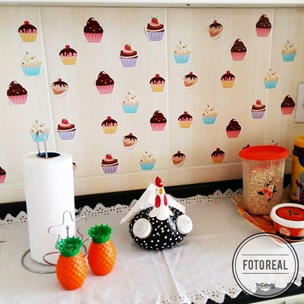 Adesivo Destacável Cupcakes  - TaColado