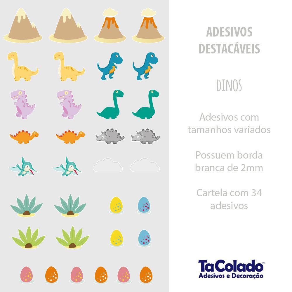 Adesivo Destacável Dinossauros  - TaColado