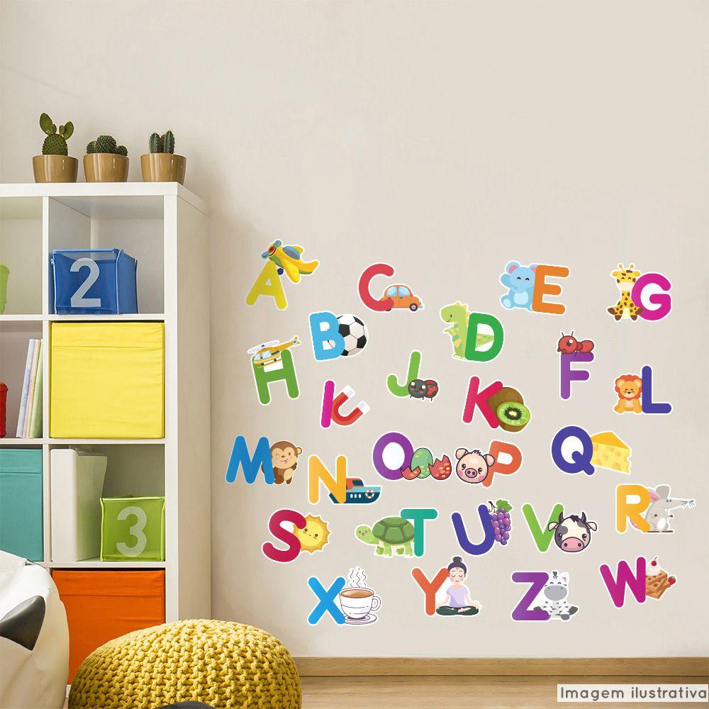 Adesivo Destacavel Educativo Alfabeto  - TaColado