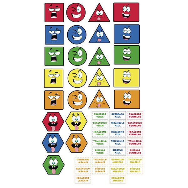 Adesivo Destacável Educativo Formas Geométricas e Cores  - TaColado