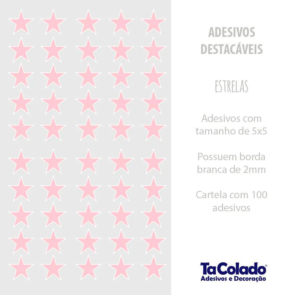 Adesivo Destacável Estrelas - Várias Cores  - TaColado