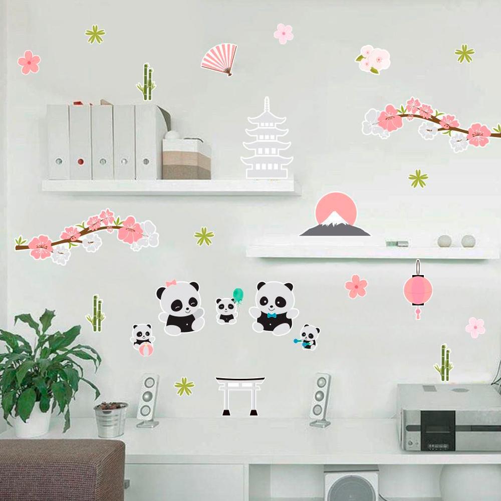 Adesivo Destacável Família Pandas  - TaColado