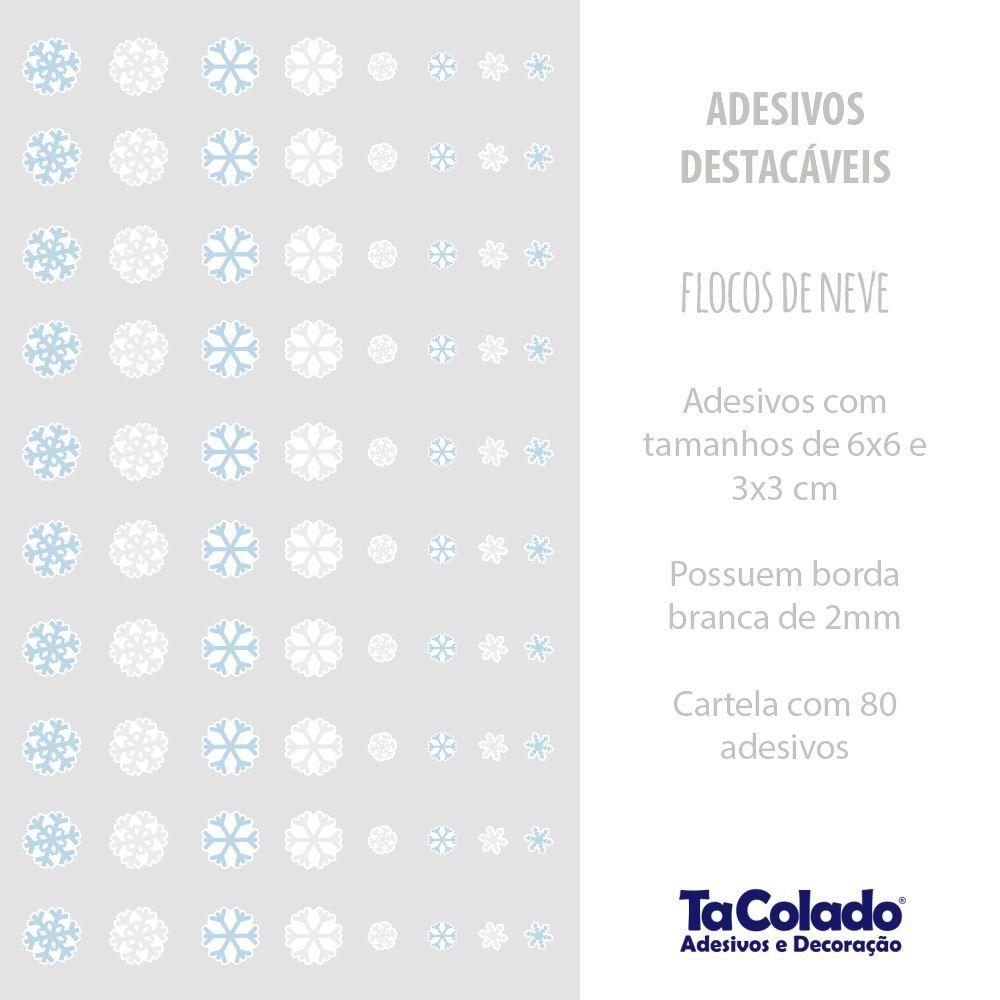 Adesivo Destacável Flocos de Neve  - TaColado