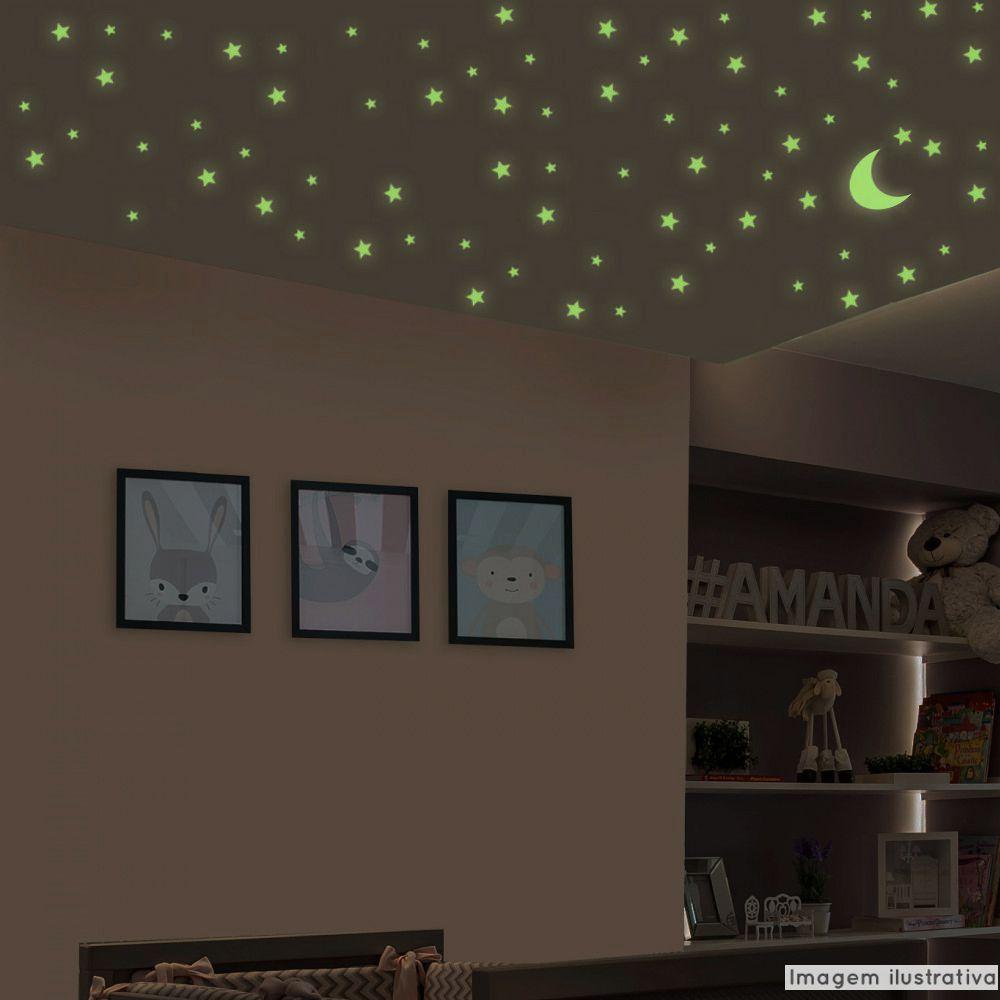 Adesivo Destacável Fotoluminescente - Brilha no Escuro  - TaColado