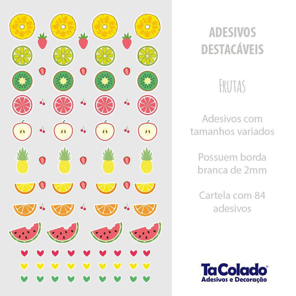 Adesivo Destacável Frutas  - TaColado
