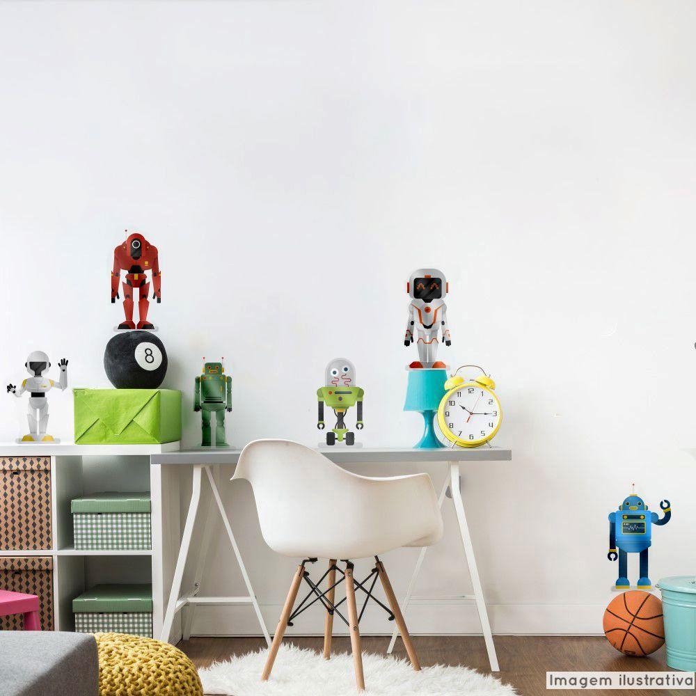 Adesivo Destacável Metálico Robôs  - TaColado