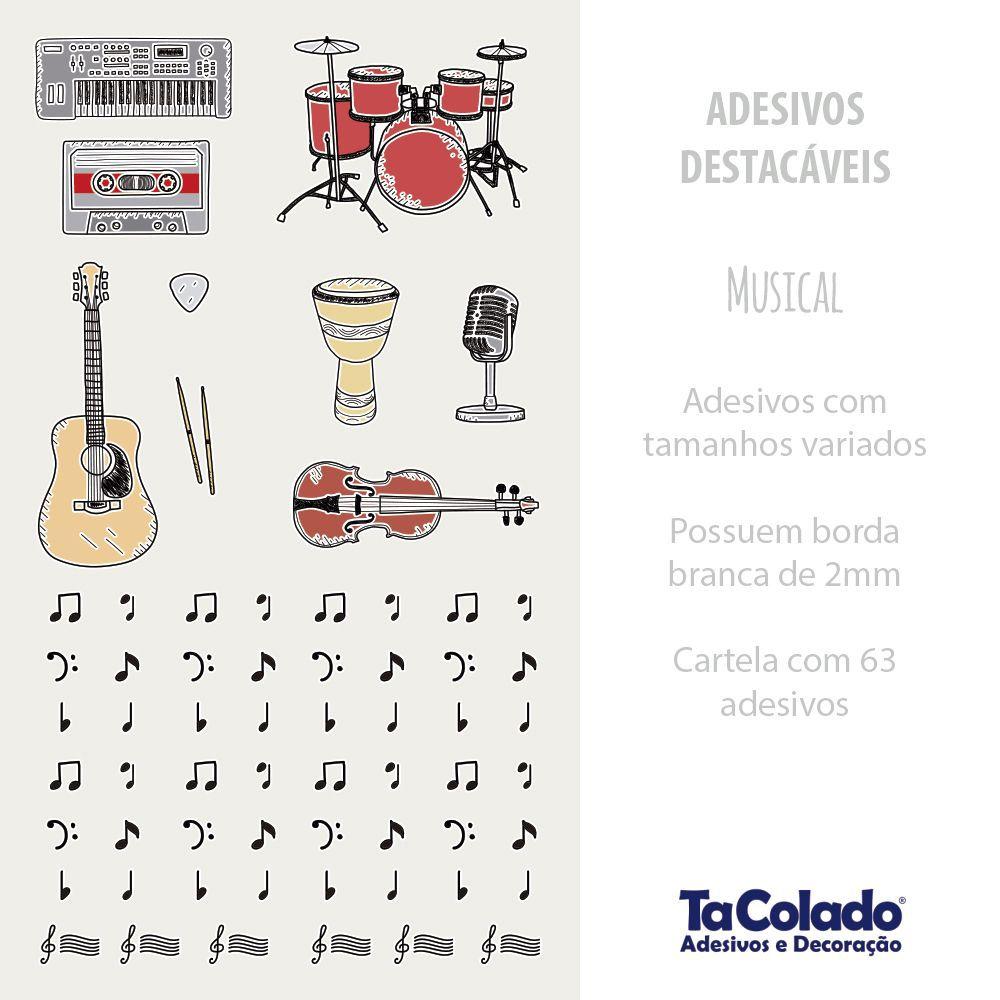 Adesivo Destacável Musical  - TaColado