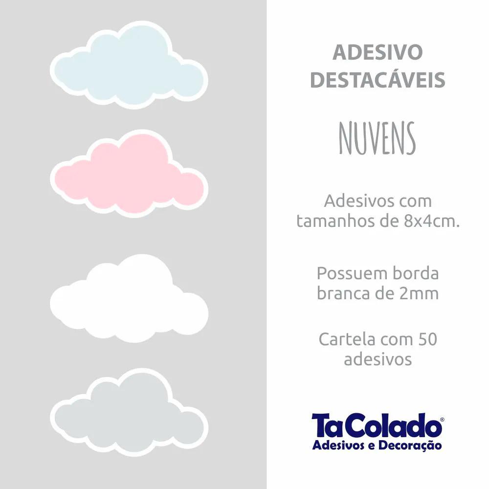 Adesivo Destacável Nuvens - Várias Cores  - TaColado