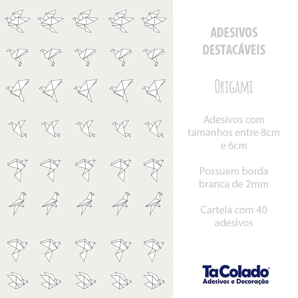 Adesivo Destacável Origami - Várias Cores  - TaColado