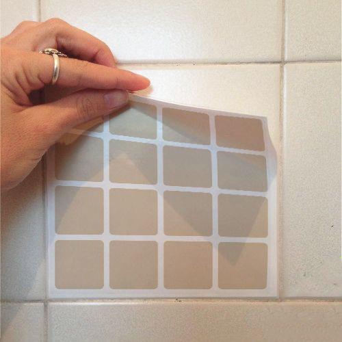 Adesivo Destacável Pastilha para Cozinha Clássica Marrom  - TaColado