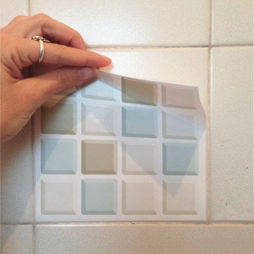 Queima de Estoque - Adesivo Destacável Pastilha para Cozinha 3D Mix Atacama  - TaColado