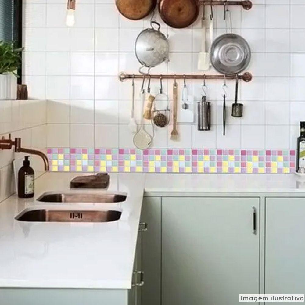 Adesivo Destacável Pastilha para Cozinha 3D Mix Candy  - TaColado