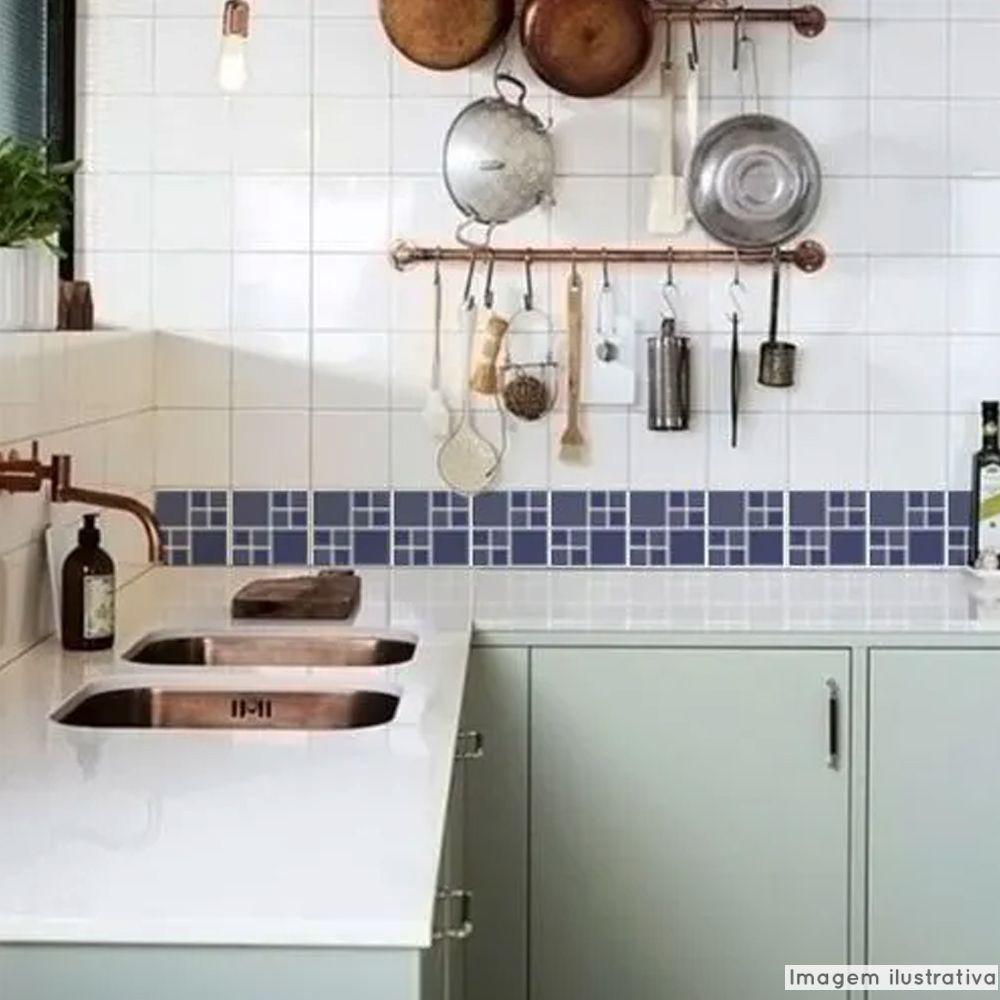 Adesivo Destacável Pastilha para Cozinha Big Azul  - TaColado