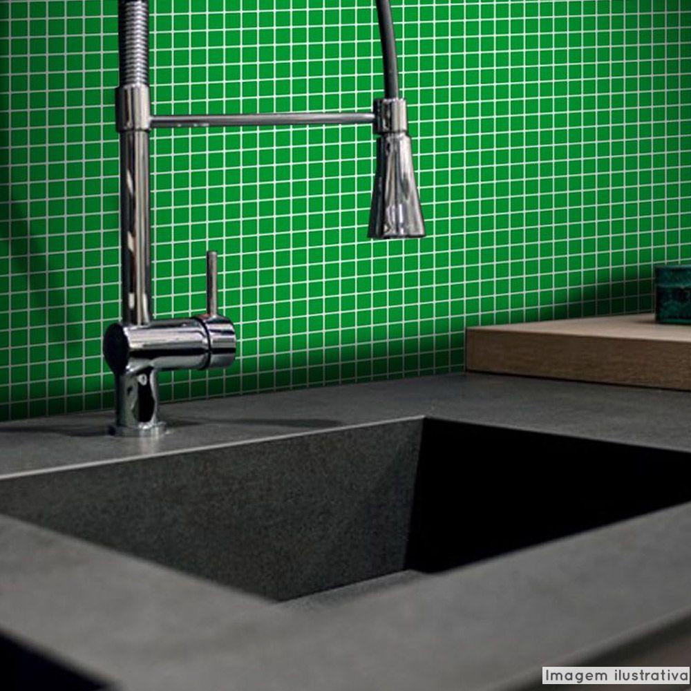 Adesivo Destacável Pastilha para Cozinha Clássica Verde  - TaColado