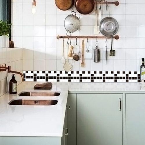 Queima de Estoque - Adesivo Destacável Pastilha para Cozinha Clássica Mix Branco e Preto  - TaColado