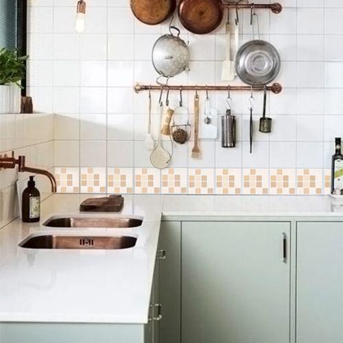 Queima de Estoque - Adesivo Destacável Pastilha para Cozinha Clássica Mix Creme  - TaColado