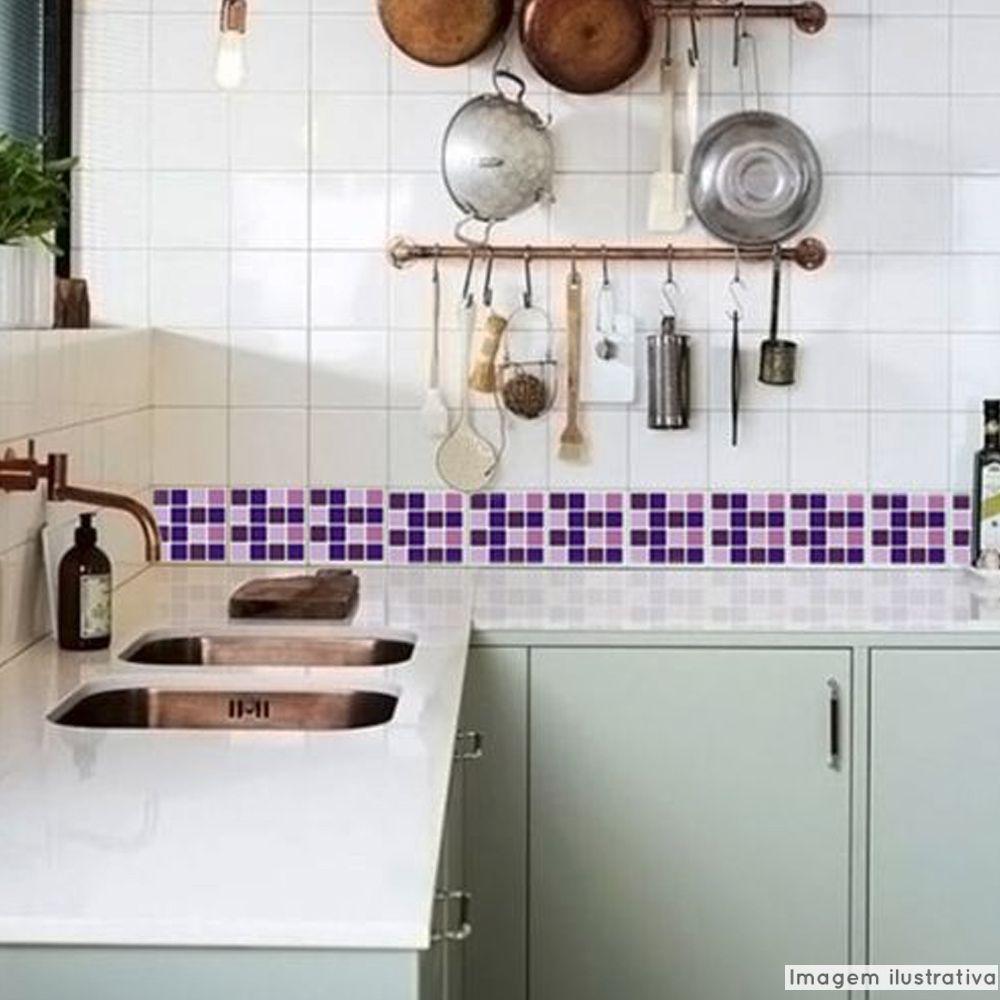 Adesivo Destacável Pastilha para Cozinha Mix Roxo  - TaColado