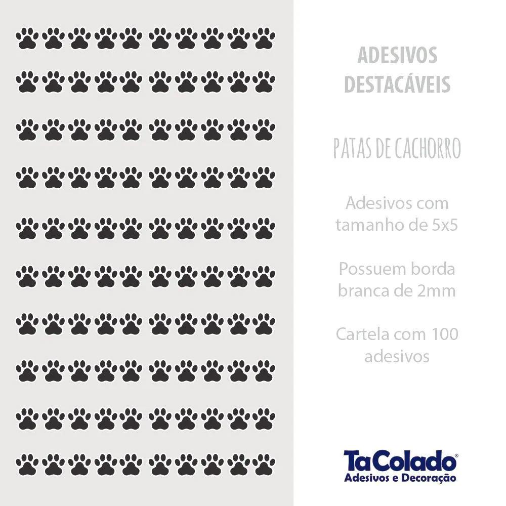 Adesivo Destacável Patas de Cachorro - Várias Cores  - TaColado