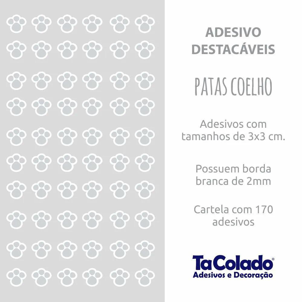 Adesivo Destacável Patas de Coelho - Várias Cores  - TaColado