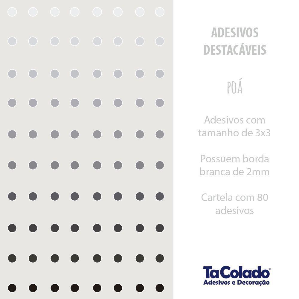 Promoção   - Adesivo Destacável Poá Confete Cinza  - TaColado
