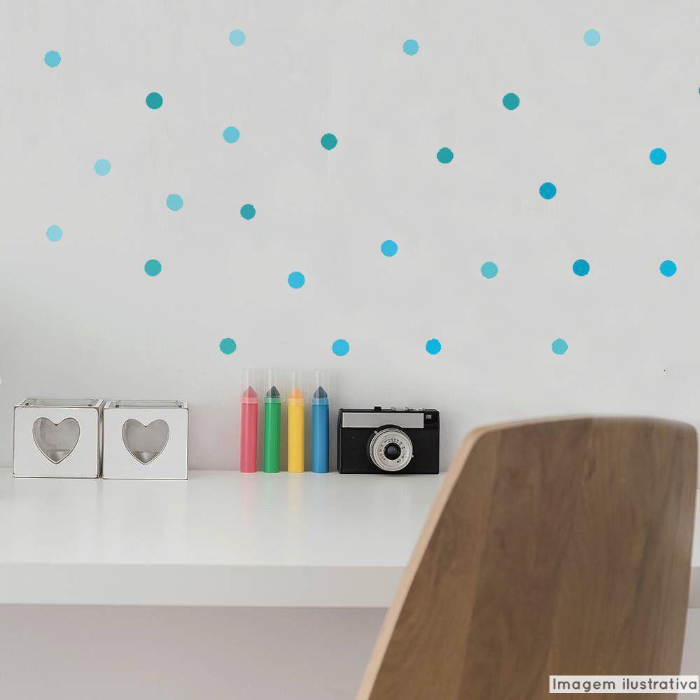 Adesivo Destacável Poá Confete - Várias Cores  - TaColado