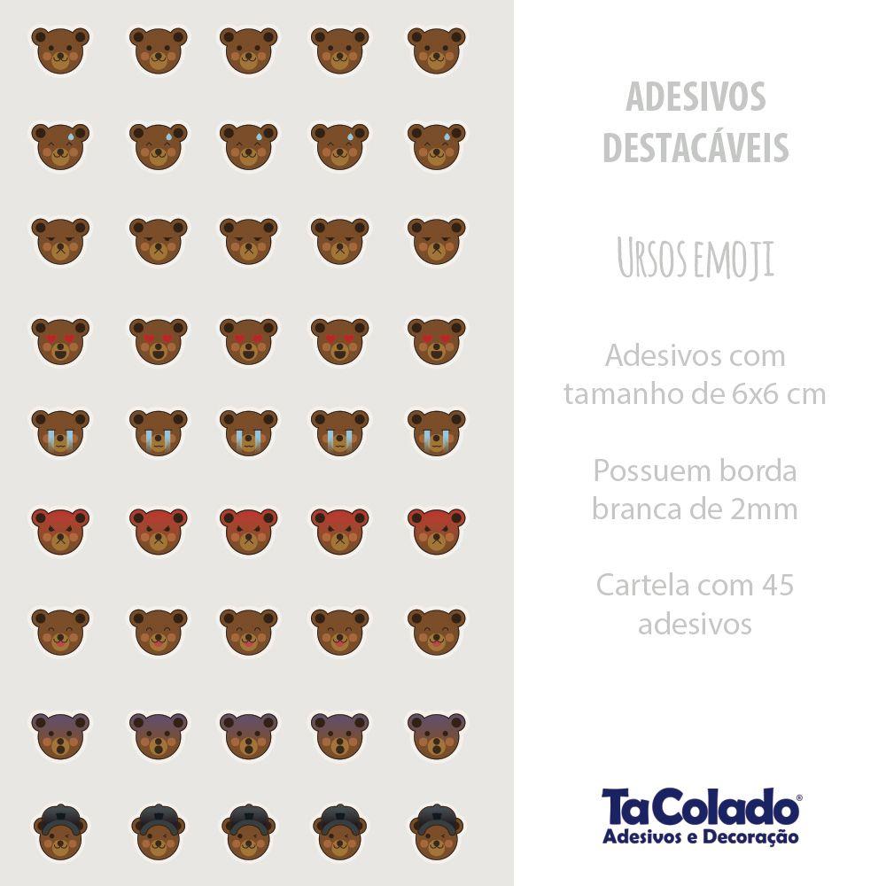 Adesivo Destacável Ursos  - TaColado