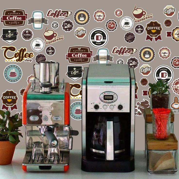 Queima de Estoque - Adesivo Destacável Vintage Café  - TaColado