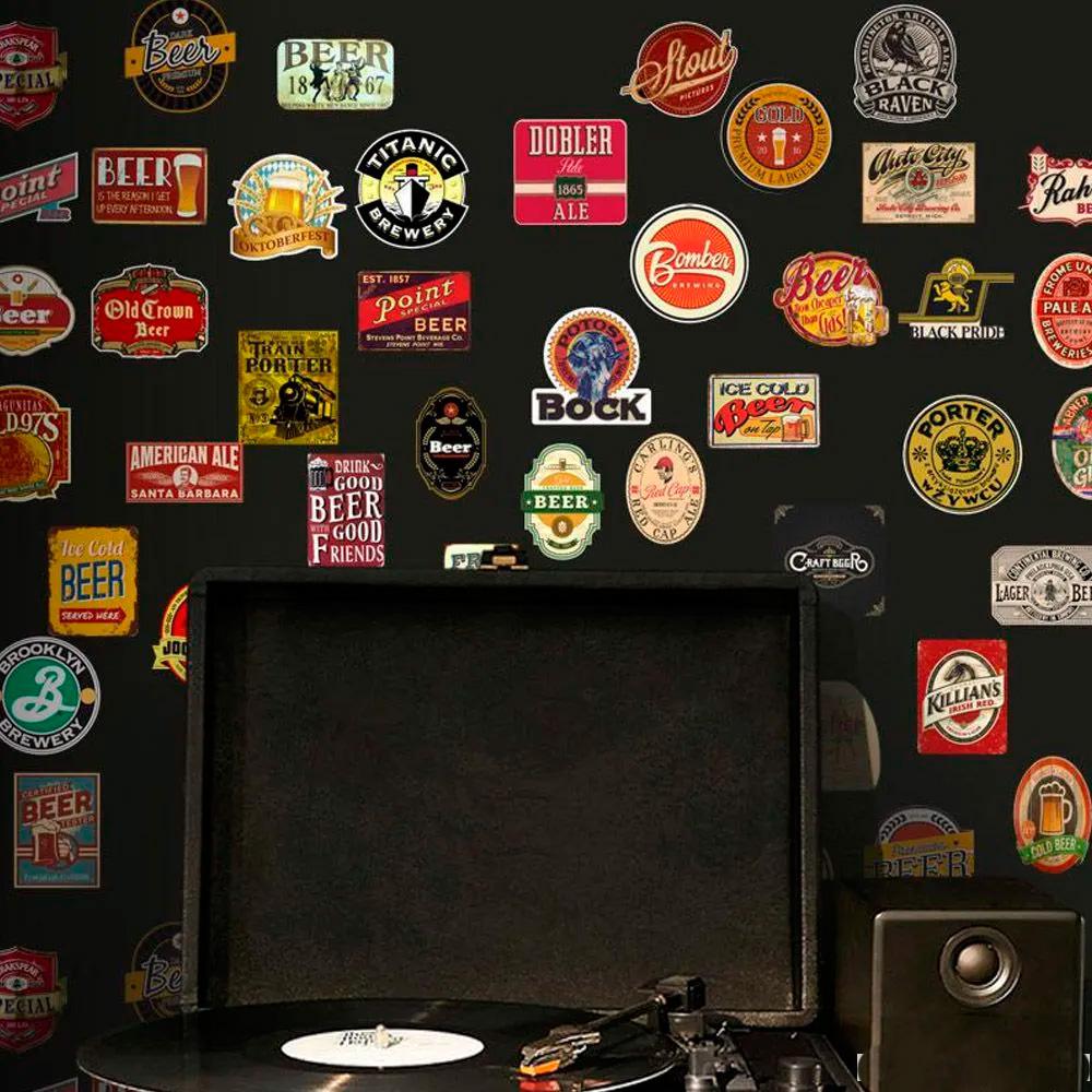 Adesivo Destacável Vintage Cerveja  - TaColado