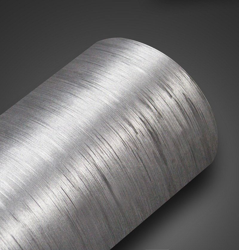 Adesivo Escovado Inox 0,20m