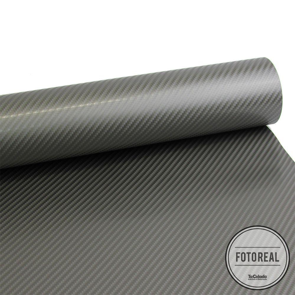 Adesivo para Móveis Fibra de Carbono 4D Grafite 0,50m  - TaColado