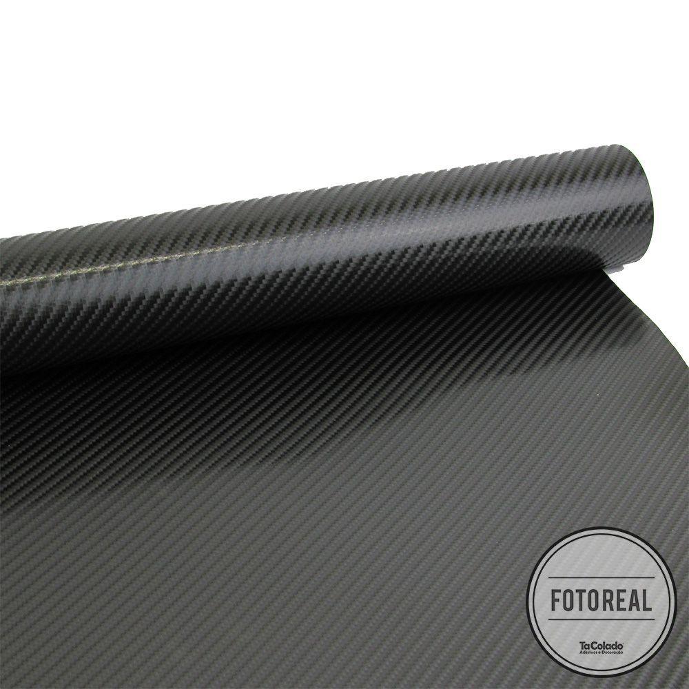 Adesivo para Móveis Fibra de Carbono 4D Preto 0,50m  - TaColado