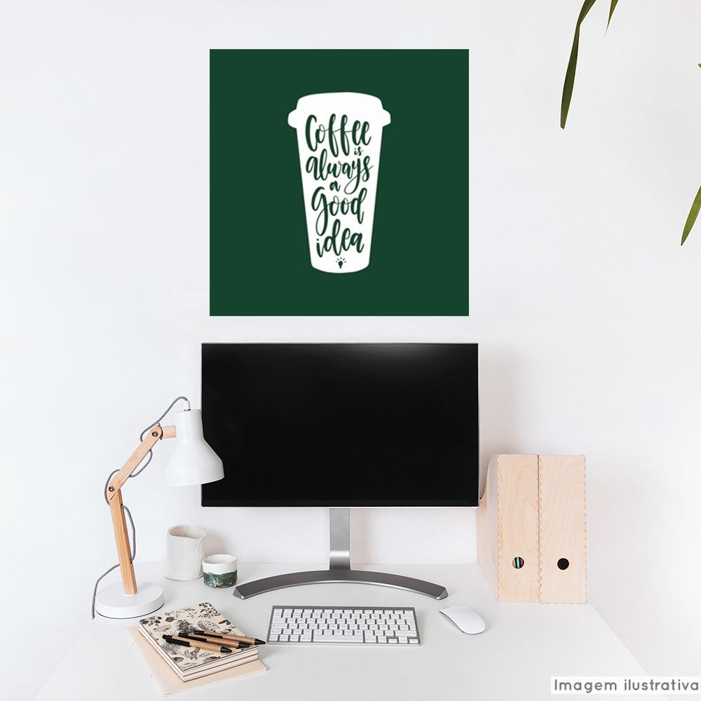 Adesivo Frase Coffee Idea  - TaColado