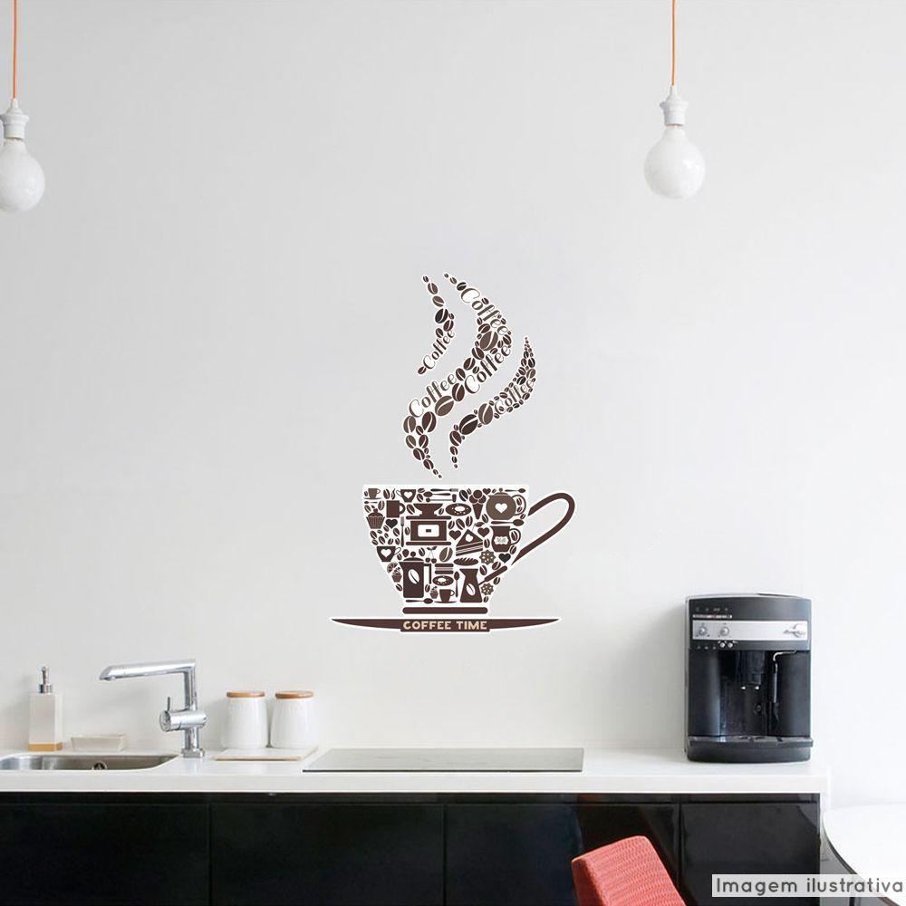 Adesivo Frase Coffee Time  - TaColado