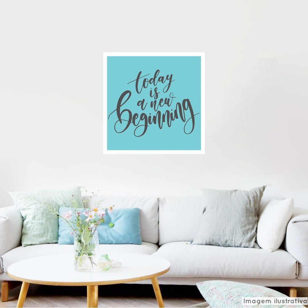 Adesivo Frase New Beginning  - TaColado