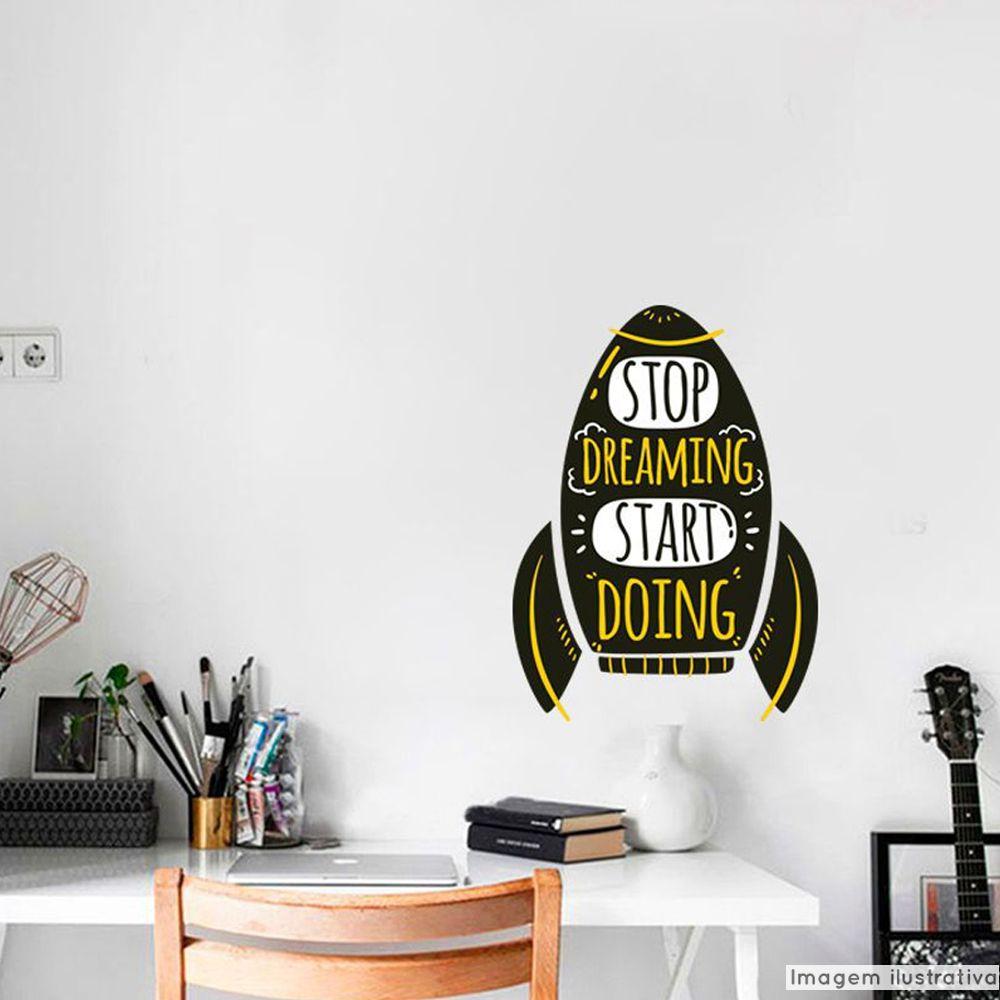 Adesivo Frase Start Doing  - TaColado