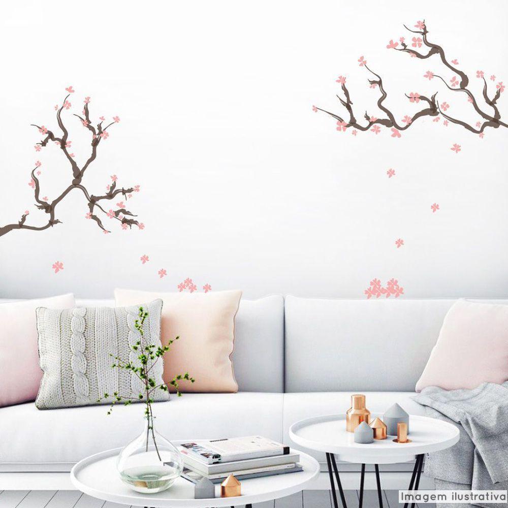 Adesivo Galhos de Cerejeiras  - TaColado