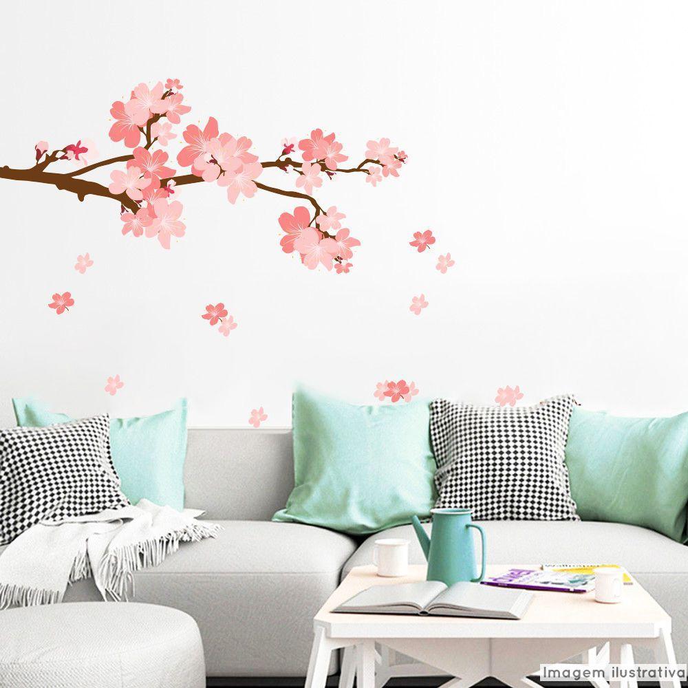 Adesivo Galhos Sakura  - TaColado
