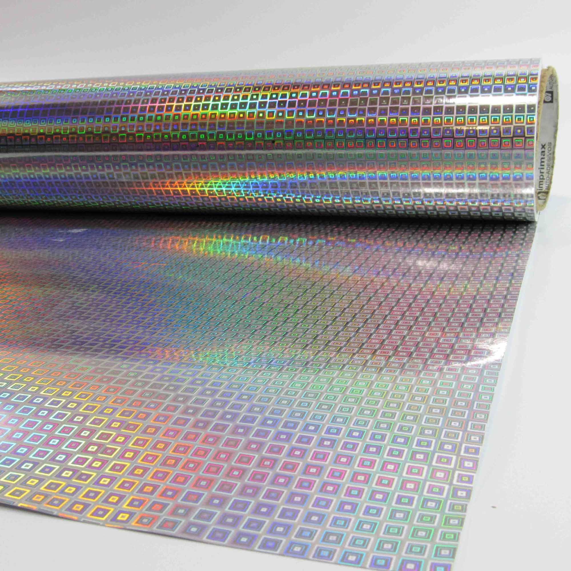 Adesivo Holográfico Quadrado  - TaColado