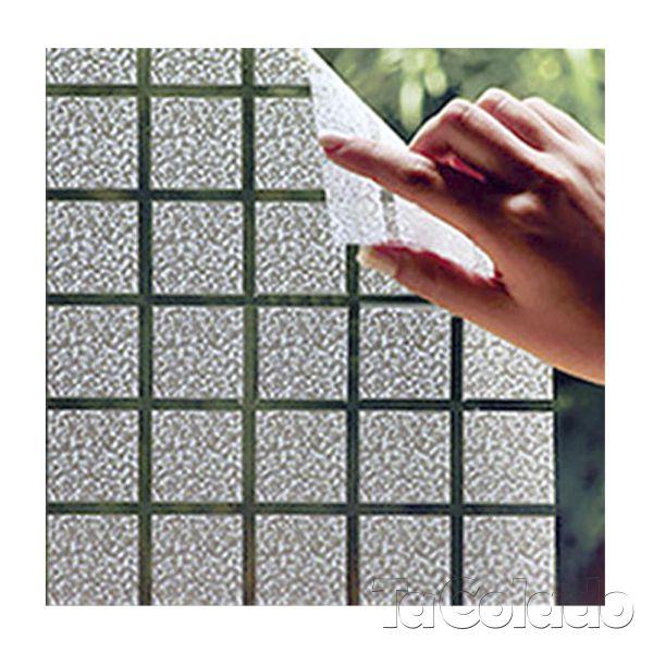 Adesivo Para Vidro Box Banheiro Jateado Quadrado 0,61m Prova D