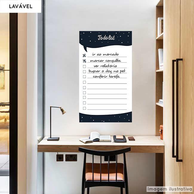 Adesivo Lousa Organizador Lista de Afazeres 0,58x1,00m + Caneta Brinde  - TaColado