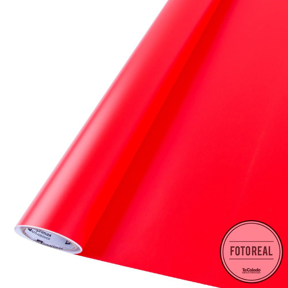 Adesivo Lousa Liso Sem Estampa Vermelho 1,00m + Giz Brinde  - TaColado