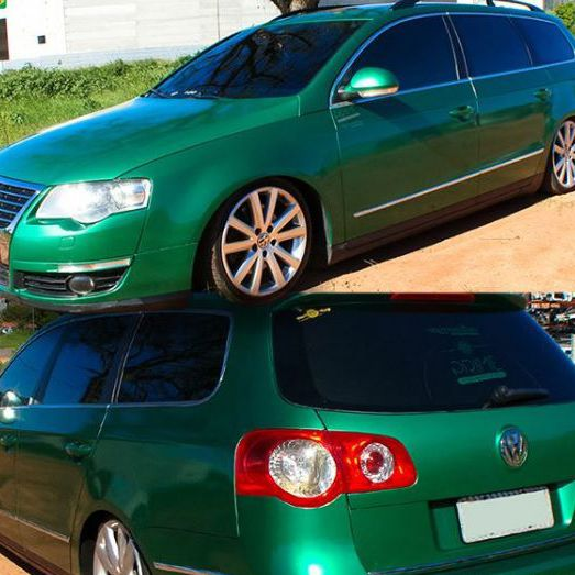 Adesivo para envelopamento automotivo Alltak Ultra Gloss Green Metallic 1,38m - TaColado