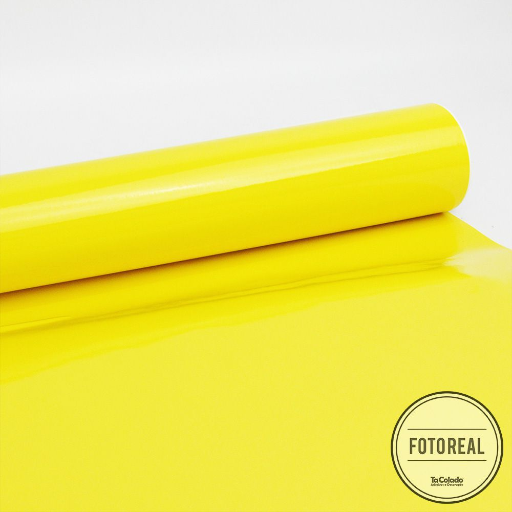 Adesivo para envelopamento automotivo Alltak Ultra Gloss Lime Yellow 1,38m  - TaColado